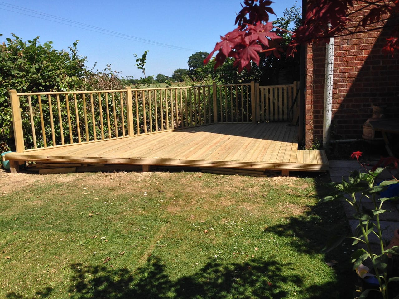 House Refurb – building a raised timber deck