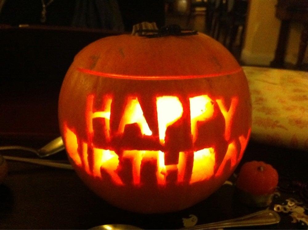 How to mix Halloween & celebrating someone's birthday :)