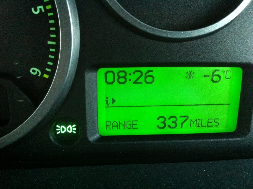 Cold start this morning.. -6 & -7 all the way to work.